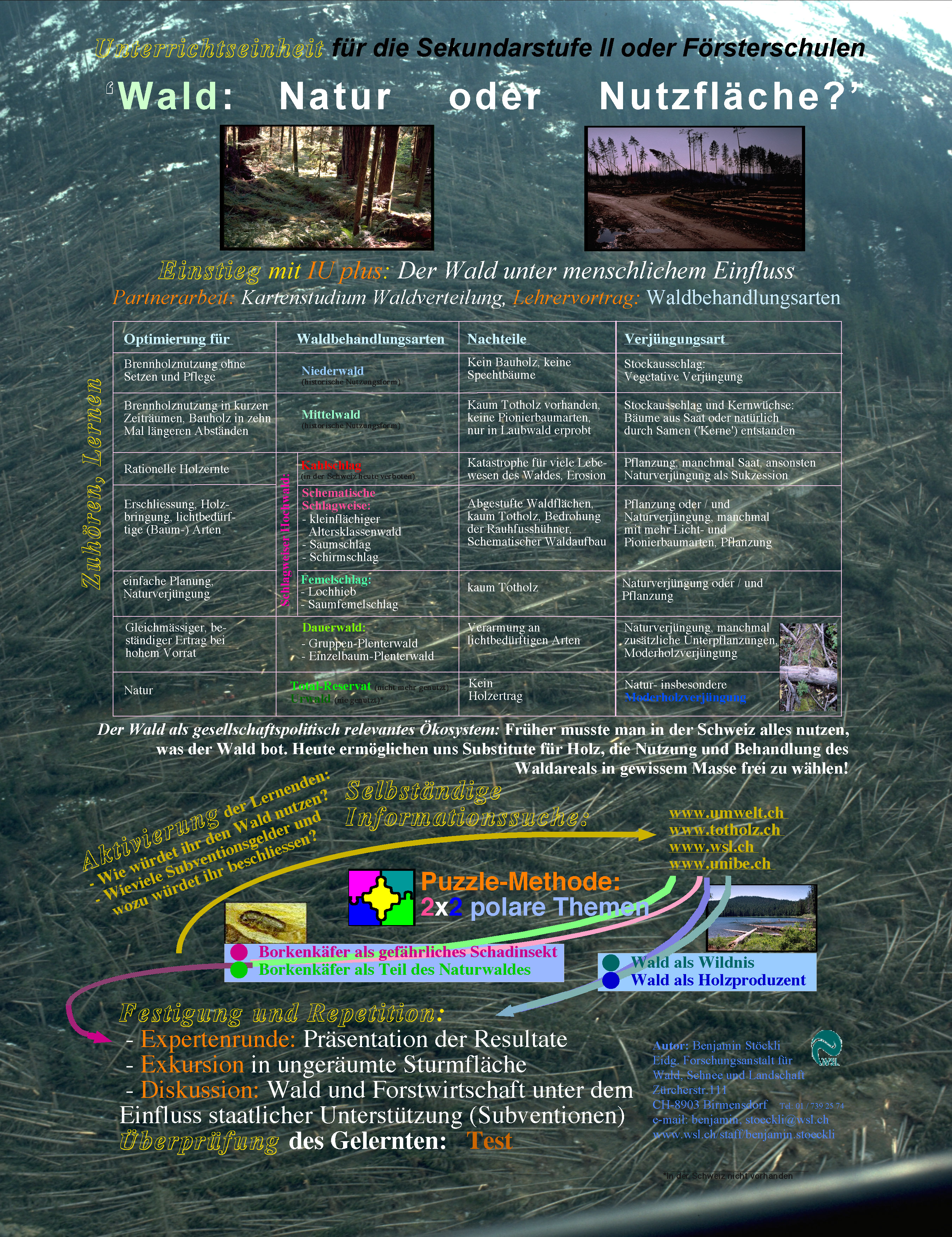 Wald: Natur oder Nutzfläche? (verschiedene Lehrmethoden) – EducETH ...