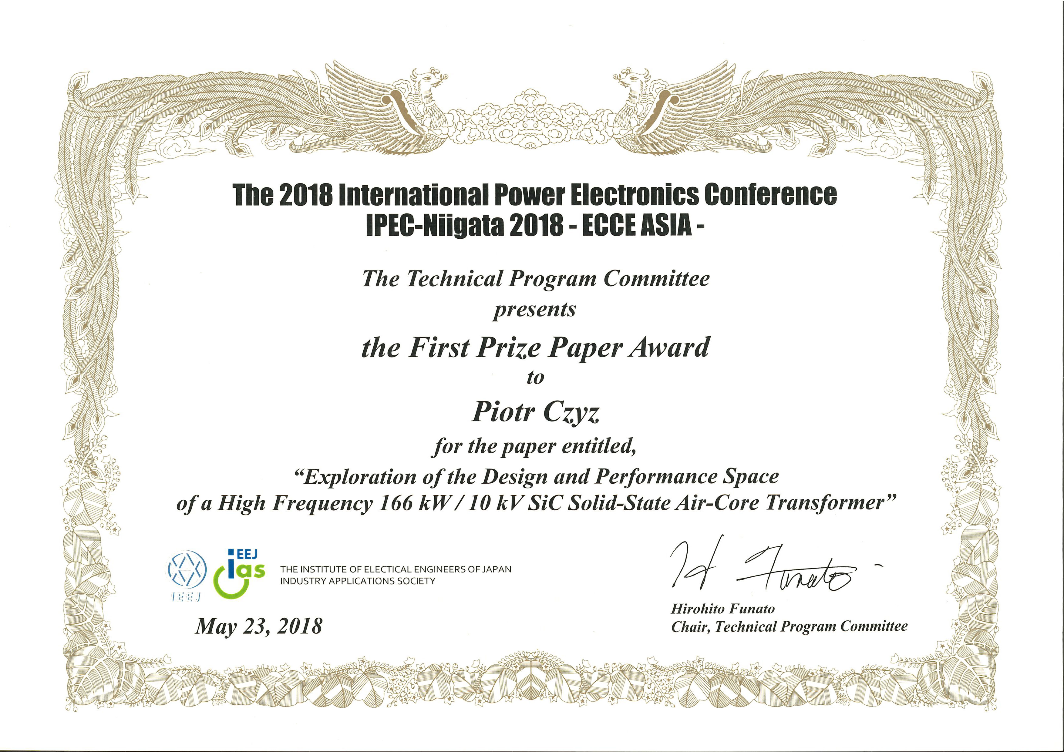 Conference Paper Awards – Power Electronic Systems