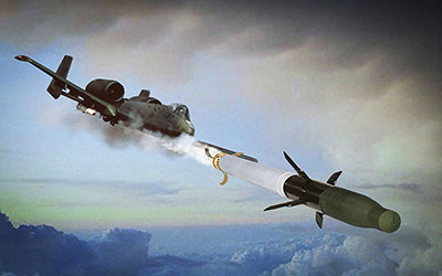 A-10 fires first-ever laser-guided rocket, 20 March 2013.
