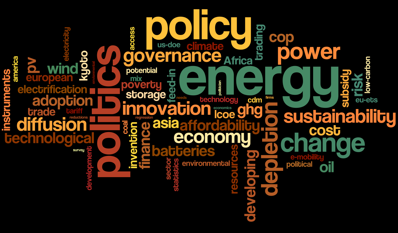 energy policy issues at global level