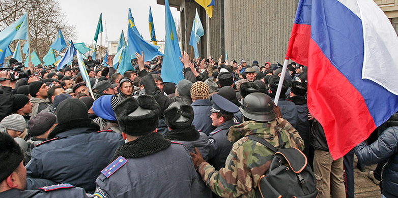 Demonstration in Simferopol