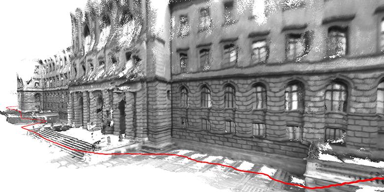 Ein 3D Modell Des ETH Hauptgebäudes. Um Es Zu Erstellen, Bewegte Sich Der  Benutzer Auf Der Hier Rot Dargestellten Linie. Das Hier Gezeigte Bild Wurde  Mit ...