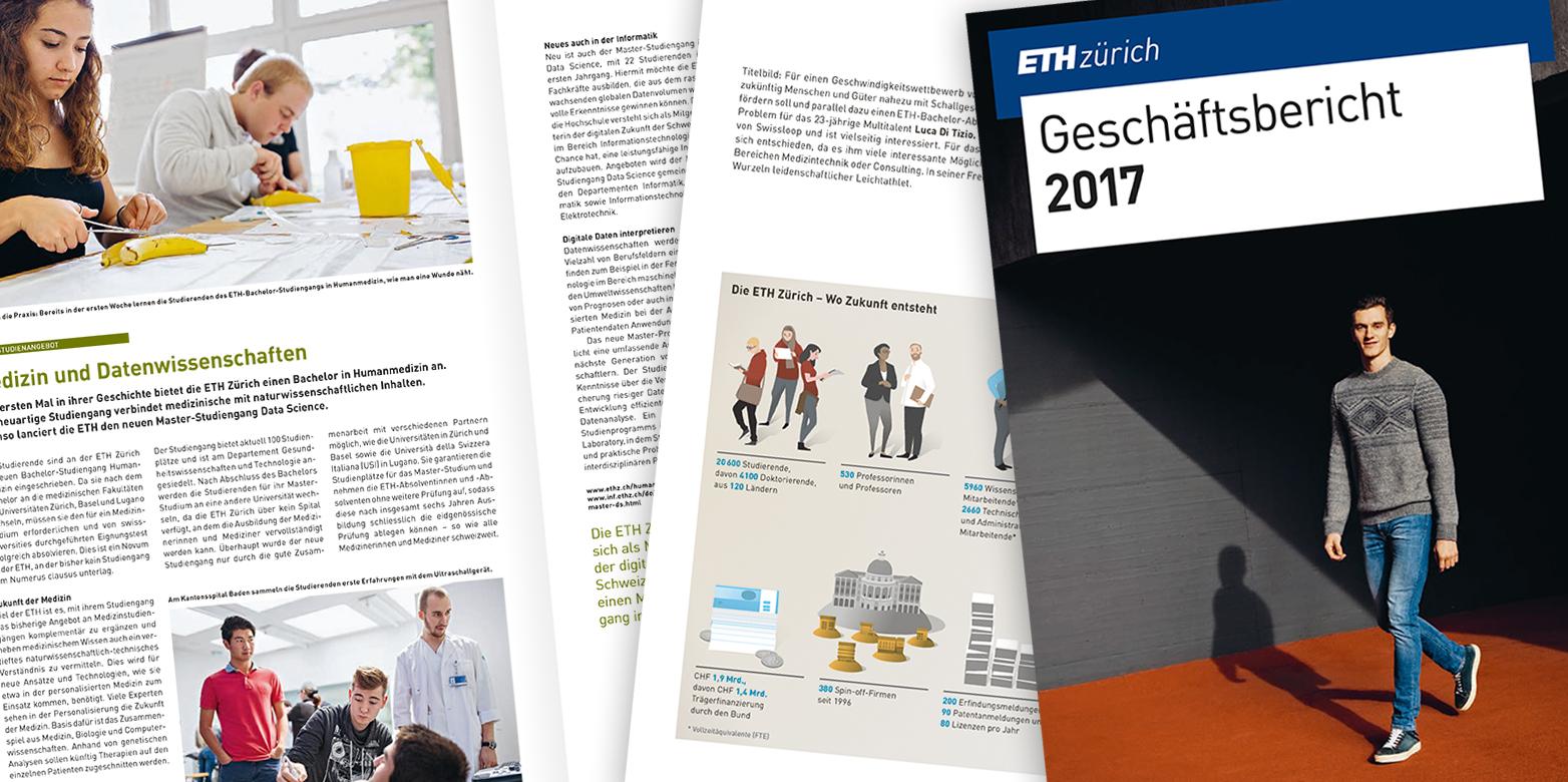 Der Geschäftsbericht 2017 ist da | ETH Zürich