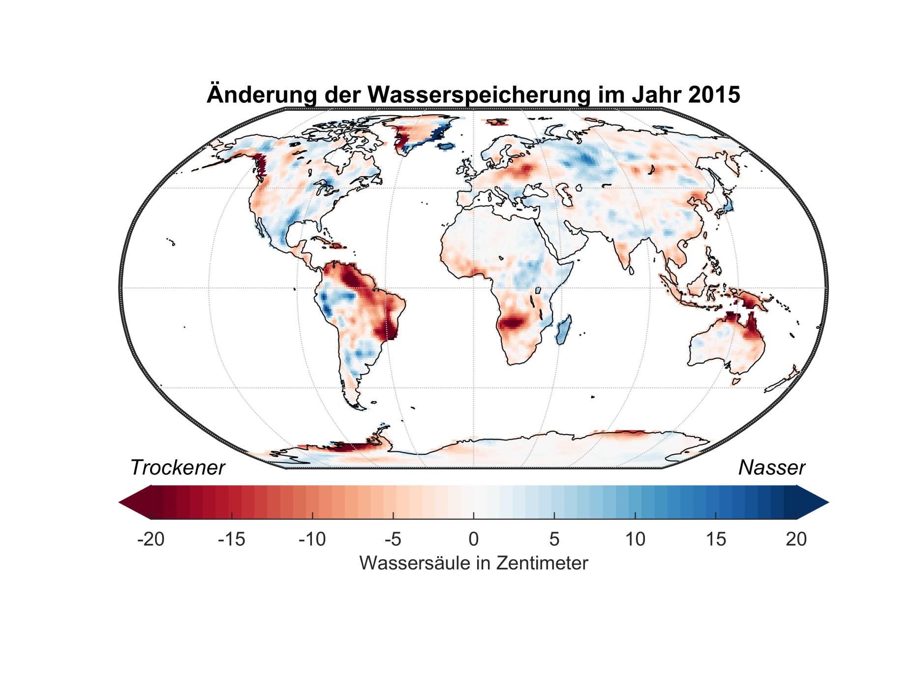 Diese Karte zeigt Anomalien in der Wasserspeicherung