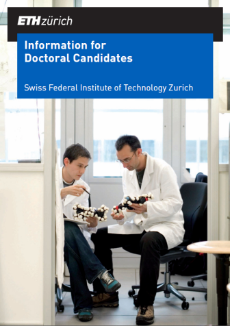 Cover Doctoral studies brochure