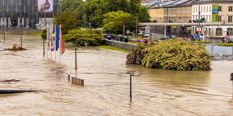 Flood in Linz, Austria