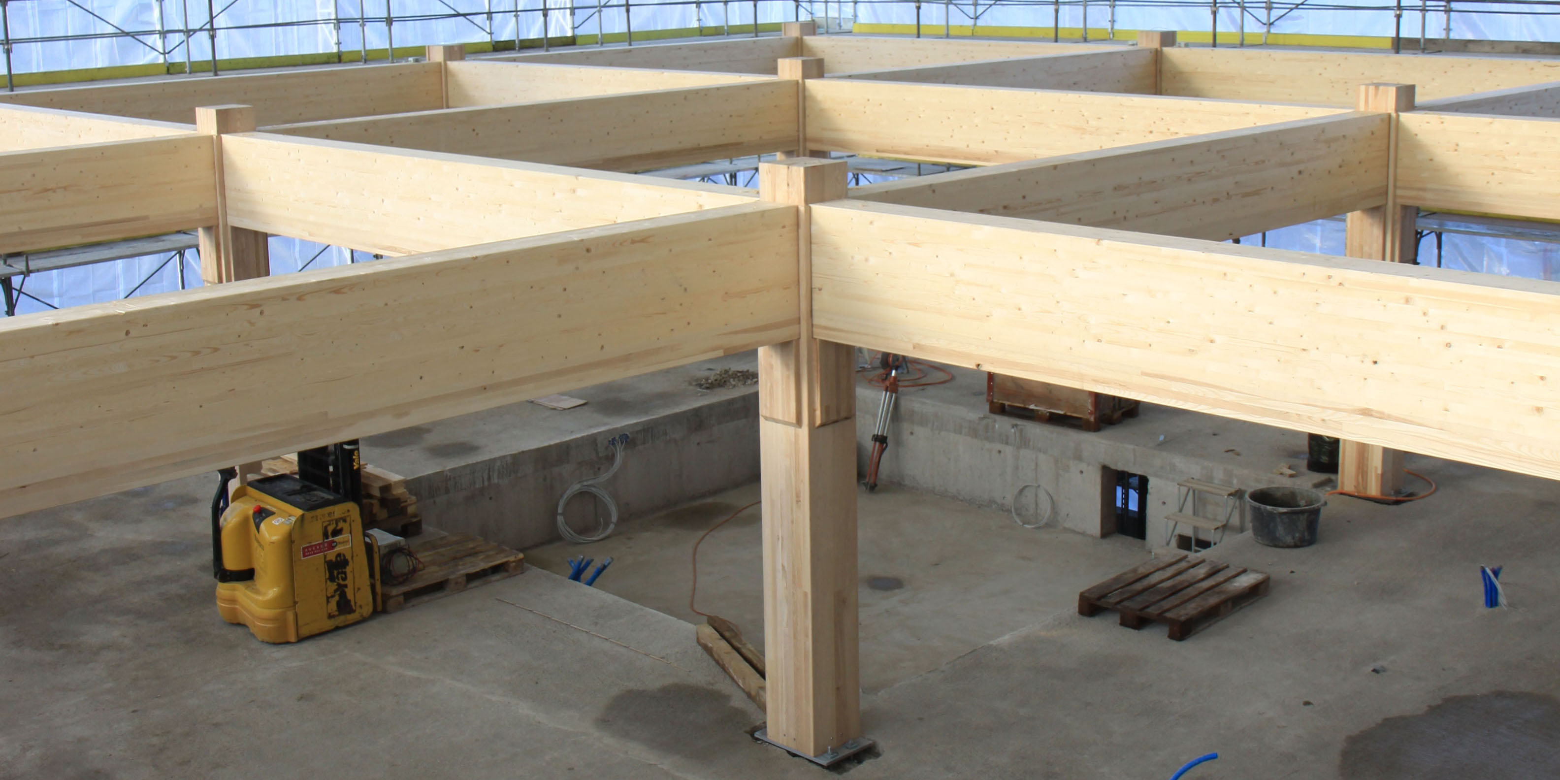 Wood Frame Construction ~ Research lab made of hard wood eth zurich