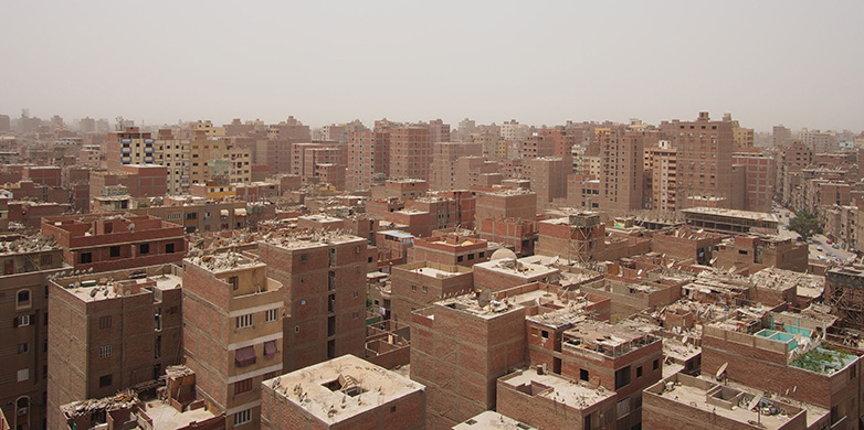 View over Ard-El-Lewa, an informal area of Cairo.