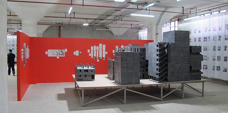 Exhibition Display With A Model Of The Studied Area