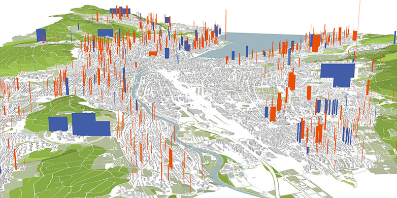 The city of Zurich is home to more than 5,000 geothermal probes.