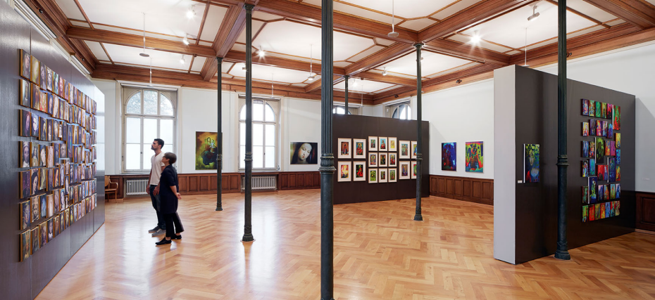 Exhibition space of ETH Zurich's Collection of Prints and Drawings