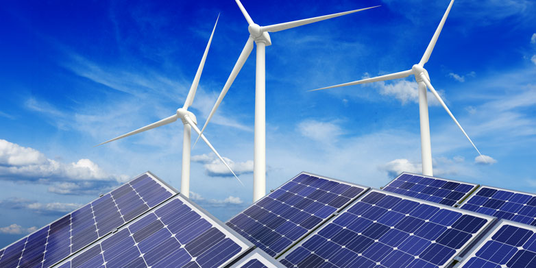 wind and solar cells
