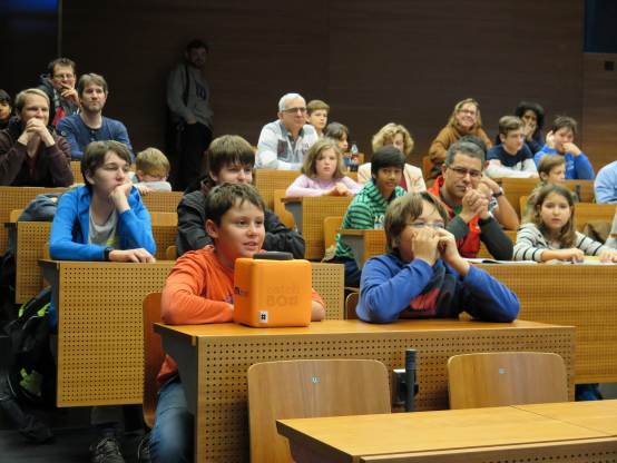 Children at a lecture