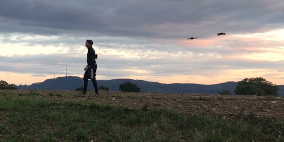 Using drones to simplify film animation