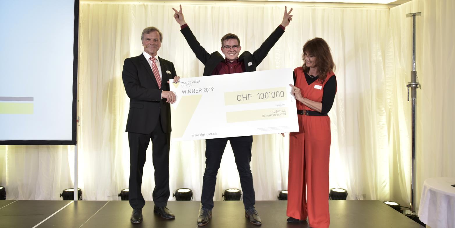 Six ETH start-ups receive W.A. de Vigier Prize