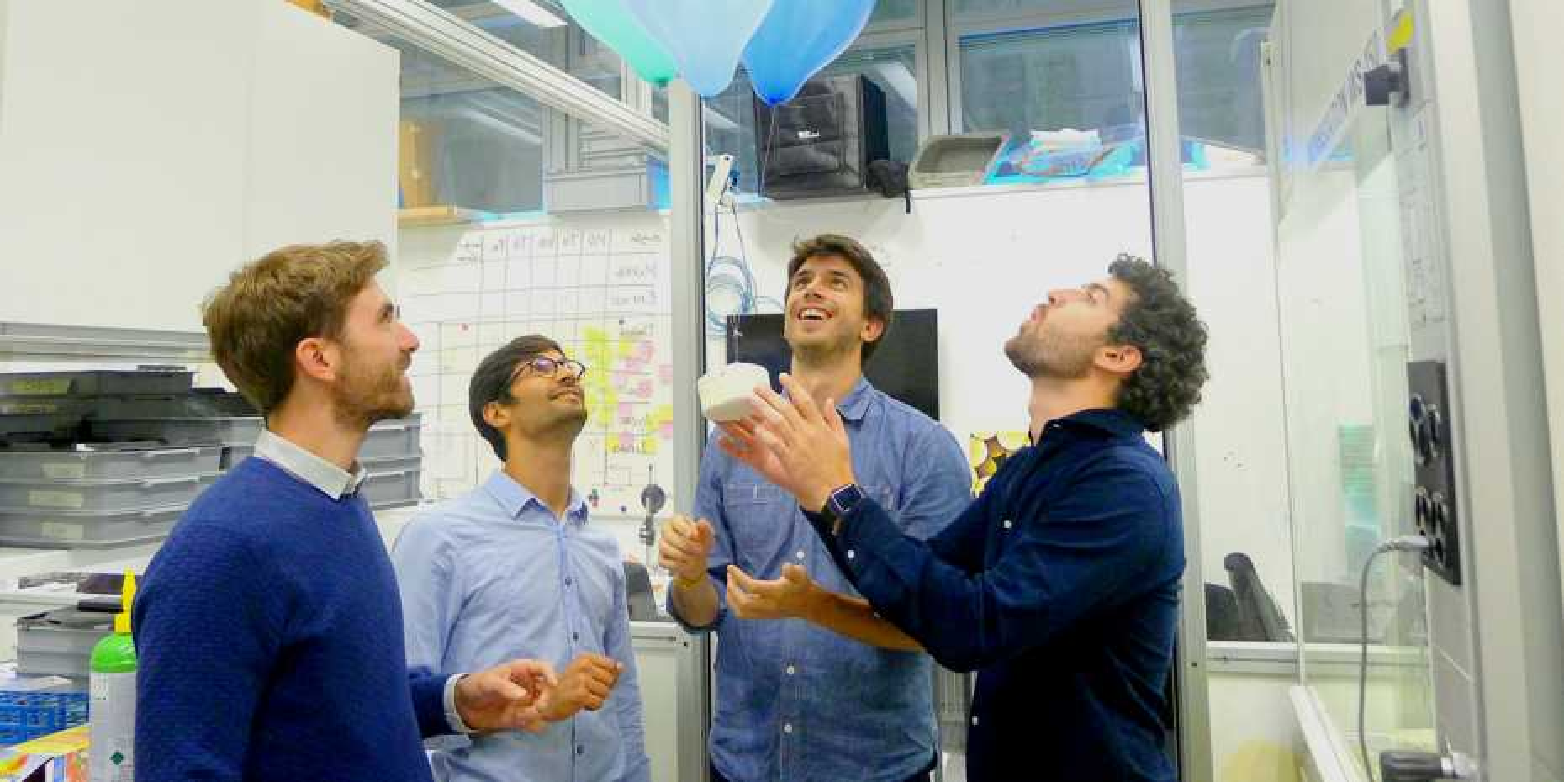 The four young entrepreneurs