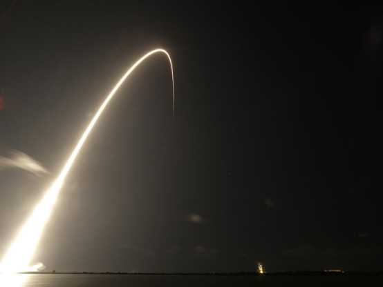 On 23 May 2019, a SpaceX rocket carrying 60 satellites for the company's Starlink broadband network lifts off from Cape Canaveral. (Photo: AP Photo/John Raoux)