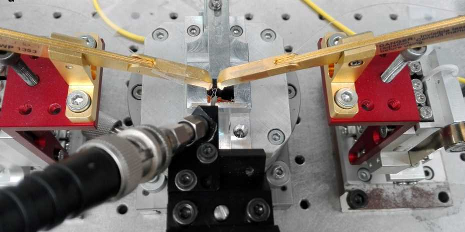 Experimental setup used to characterise a prototype of the novel light detector. (Photo: ETH Zurich)