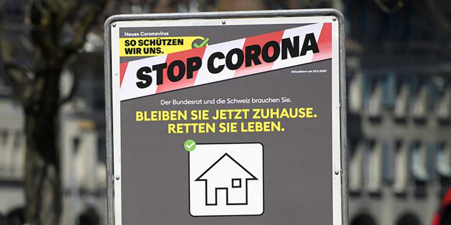 Plakat Stop Corona