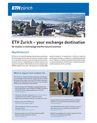 eth zurich your exchange destination