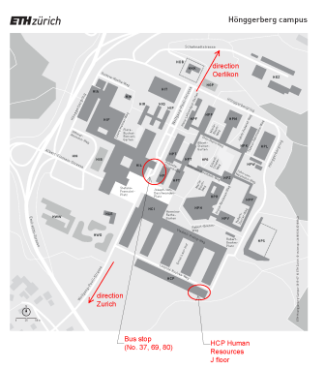 Gcc Az Campus Map.Location Map Eth Zurich