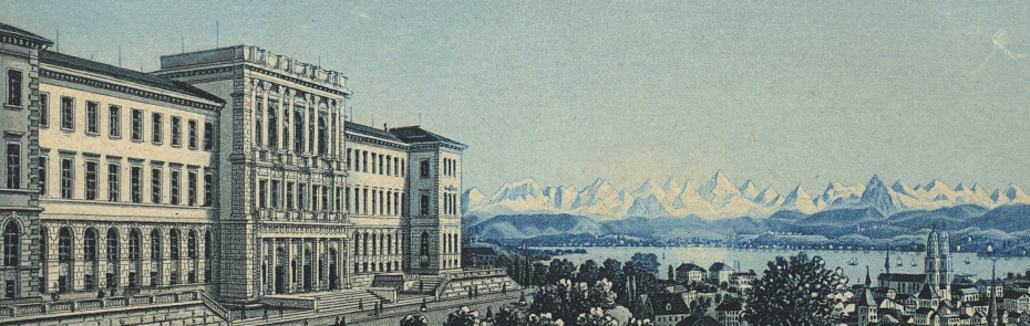 The ETH Zurich's main building in the 19th century