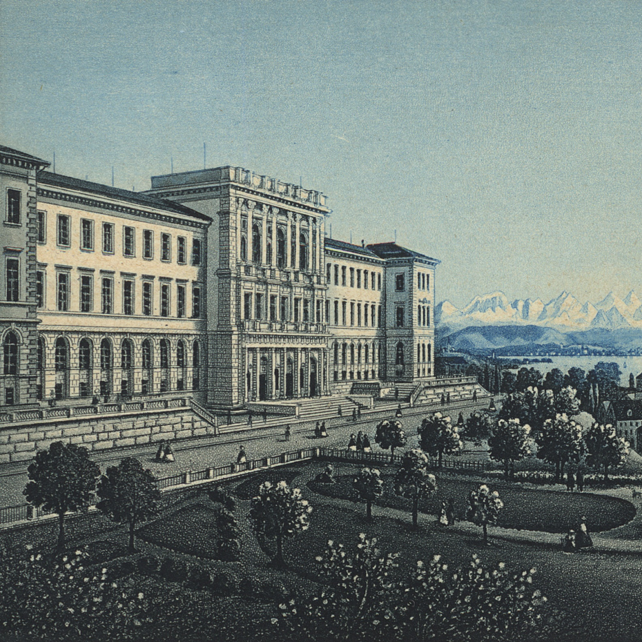 Main Building at ETH Zurich in the 19th century